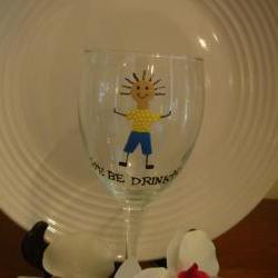 Handpainted Wine Glass We Be Drinkin' Boy Personalized